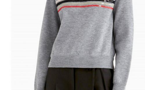 Knit Pullover with Scribble Embellishment