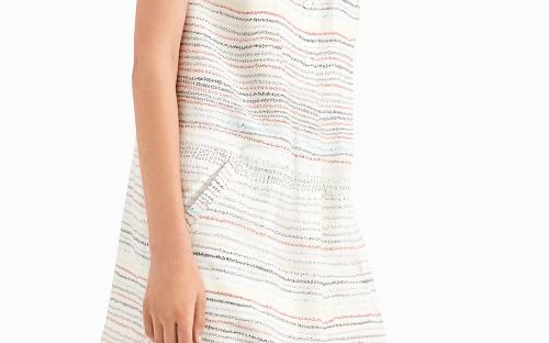Pascal Scribble Print Dress With Embroidered Collar
